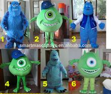 Hot sale good visual plush adult james p. sullivan mascot costume for sale