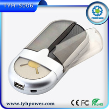 2014 hot sale portable power bank , gift power bank with solar panel for smartphone