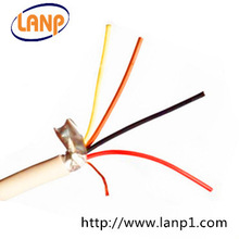 Cheap series alarm cable 4x0,22mm with shielding and copper conductor