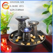 Small decorative outdoor vase fountain