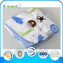 Goood emboridery hot sale baby knitted coral flece Blanket
