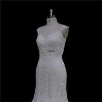 Exquisite scoop neck aline gown+lace+vintage aline wedding dresses
