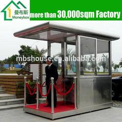 Prefab mobile outdoor security kiosk/ guard house