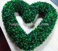 Décoratifs. 40cm buis en plastique en forme de coeur couronne de feuilles vertes artificielle pour la décoration guirlande