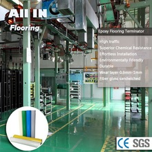 Seamless gloss glass Fiber Epoxy flooring industrial epoxy flooring
