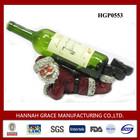 Xmas Decoration Resin Wine Bottle Carrier
