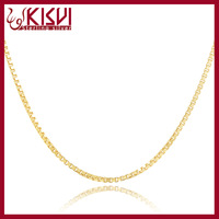 gold plated 925 silver box chain wholesale