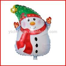 Popular mini shape white snow man foil balloons