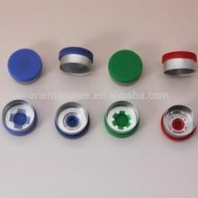 20mm aluminium and plastic caps /flip off caps for medical vials