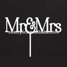 Custom Acrylic Cake Topper, Wedding Cake Topper Mr and Mrs Topper Design