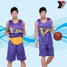 New fashion popular reversible mens china latest basketball jersey design YN11-082 custom basketball jersey