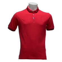 cheap high quality polo shirts barca red collar man polo shirt thailand clothing manufacturer