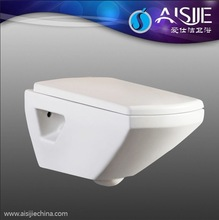 Sanitary ware Ceramic Square Wall Hung Toilet Dimensions With Seat Cover Human Toilet 712