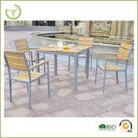 2014 Polywood furniture-5pc poly wood garden dinning set / wood furniture