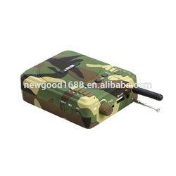 OEM mini bluetooth bird caller speaker ,mini bluetooth speaker ,mesh bag with straps