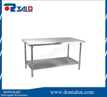 Stainless steel work bench kitchen food prep catering table