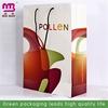 oem /odm printed square bottom paper bags with die cut handles