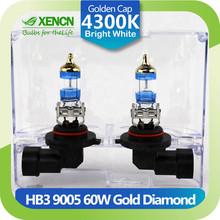 XENCN HB3 9005 12V 60W P20d 4300K Gold Diamond Car Head Light Germany Quality Halogen Bulb UV Filter Auto lamp
