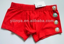 red with facial expression printed fashion boys boxer shorts