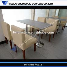 base en acier inoxydable de conception de style industriel tables à manger pas cher
