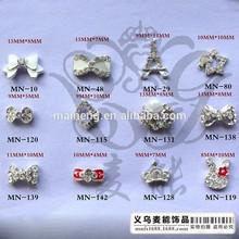 2015 fashion design 3d nail art decoration bow tie