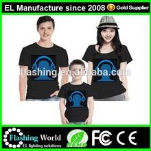 Animated glow el shirt,el flashing t shirt Led tshirt