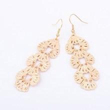 Women Accessory Trendy Design Fashion Metal Long Dangle Earring