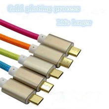 New Aluminum Alloy Head Braided Wire,Micro 4 Copper Wires for Android Phone