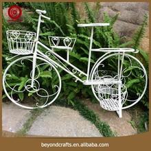 Pure color realistic design cheaper garden bicycle flower planter