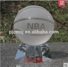 Crystal Basketball with Crystal Base For NBA Souvenirs