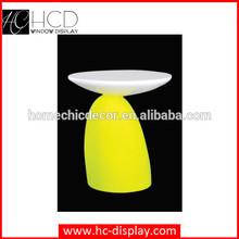 Modern fiberglass mushoroom decorative small short table