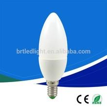 cheap ac200-240v no flicking g45 c37 3w led bulb e14