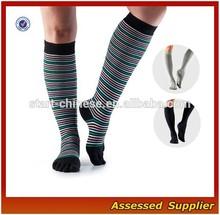 Customize Men's 5 Toe Non Slip Yoga Socks/Extra Long Yoga Pilates Socks /Men's Leg Warmers---AMY12032