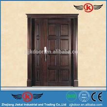2014 Hot selling main door design/glass insert solid wood door/solid wood bedroom door