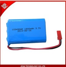 1S1P rechargeable 3.7V 1800mAh Li-Polymer battery pack
