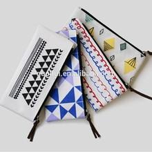 promotion gift cartoon small zipper cotton bag pencil bag