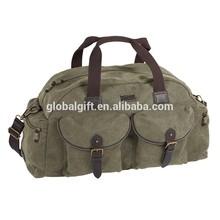 Retro Canvas Leather Duffel Bag Designer Gym Shoulder Camel Travel Bags For Men