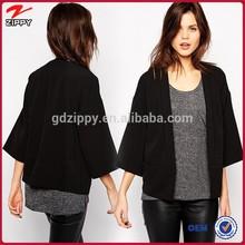 midi sleeve black thice women winter kimoni cardigan