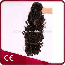 New Products On China Market Kanekalon Claw Clip Ponytails