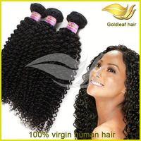 free shipping!hot sell 3 pcs virgin peruvian afro kinky human hair weave 22 inch