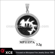cute child jewelry fish 925 sterling silver pendant