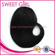 Wholesale hairpiece fringe hair bangs human hair extensions for black women
