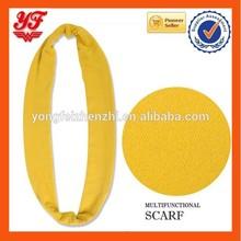 Vogue Yellow Ladies Fashion knit loop Neck Scarves