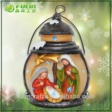 Polyresin Handmade Holy Family Decoration