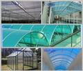 Di alta qualità 10- anni di garanzia certificazioneiso 100% Bayer marolon tenda finestrain policarbonato con protezione uv