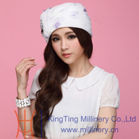 Hats Manufacturer Summer Womens White hats With Shiny Rhinestone