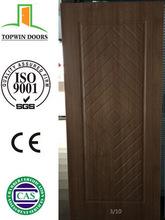 High quality popular design MDF pvc interior door with Turkey upper frame swing open
