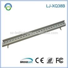 IP67 DC24V RGB DMX512 controller XQ38BF-24W outdoor led wall wash light
