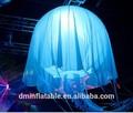 mar animal replicar gleamy led inflável jellyfish
