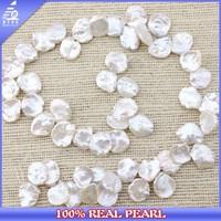 AA 11-12MM Freshwater Keshi Shape Real Natural Loose Pearl